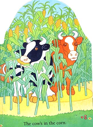 The cows in the corn