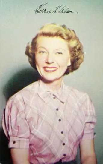 Religion Of Harriet Nelson; From The Adventures Of Ozzie & Harriet