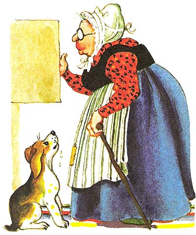 Character: Old Mother Hubbard (Mrs  Hubbard)