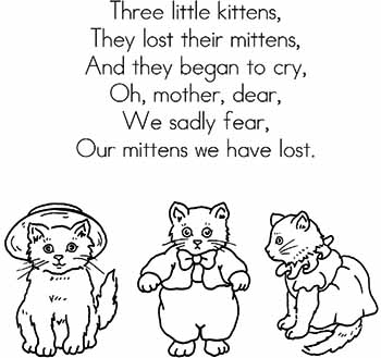 Religion of Three Little Kittens; lost their mittens