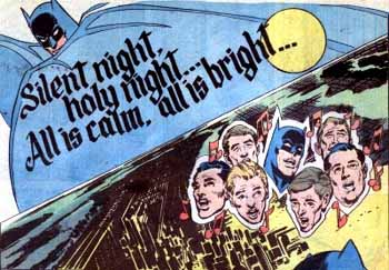 Batman singing Christmas carol: Silent Night, Holy Night