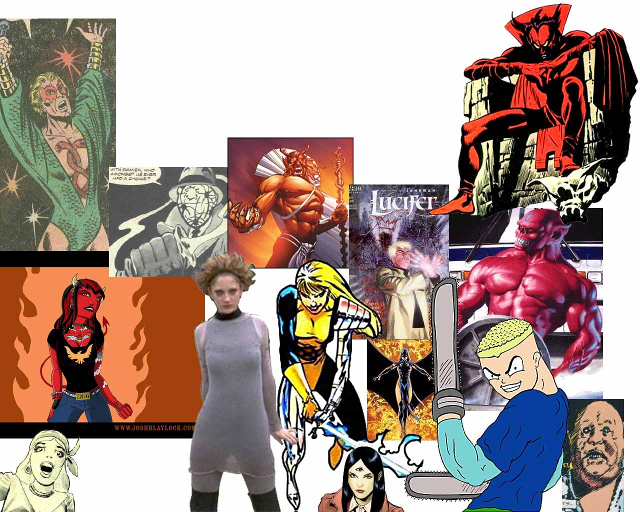 Demonolatry Superheroes, Villains, Other Comic Book Characters