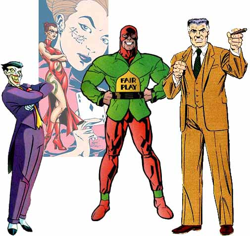 ... idiosyncratic superheroes, villains, other comic book characters
