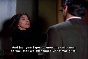 Lois Lane exchanged Christmas gifts with her cable guy