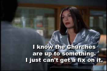 Lois Lane: I know the Churches are up to something...
