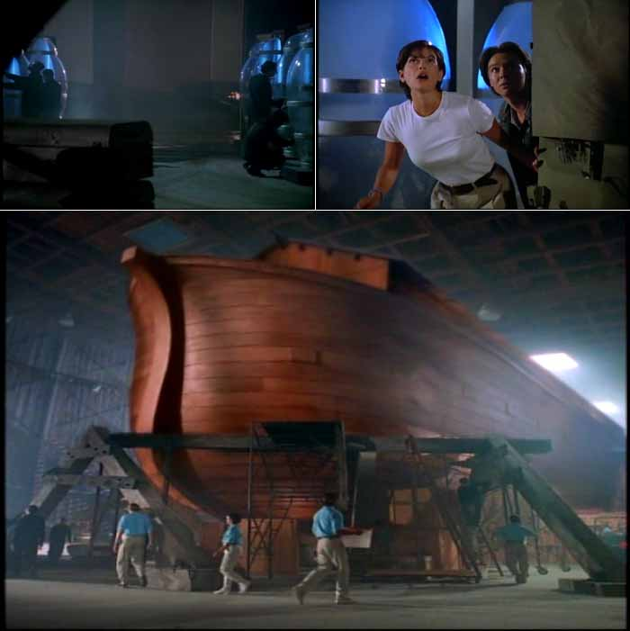 Lois Lane and Jimmy Olsen see the Biblical-style ark which Larry Smiley plans to use as a modern-day Noah