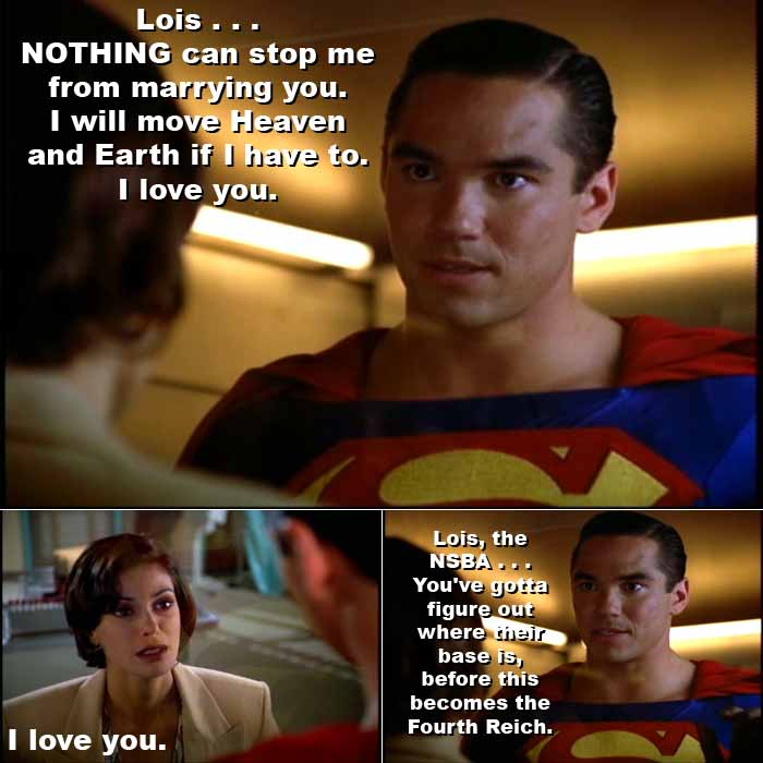 Superman vows to marry Lois Lane no matter what it takes, even if he must move Heaven and Earth