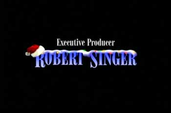 Executive Producer Rober Singer's name is specially decorated for Christmas during closing credits