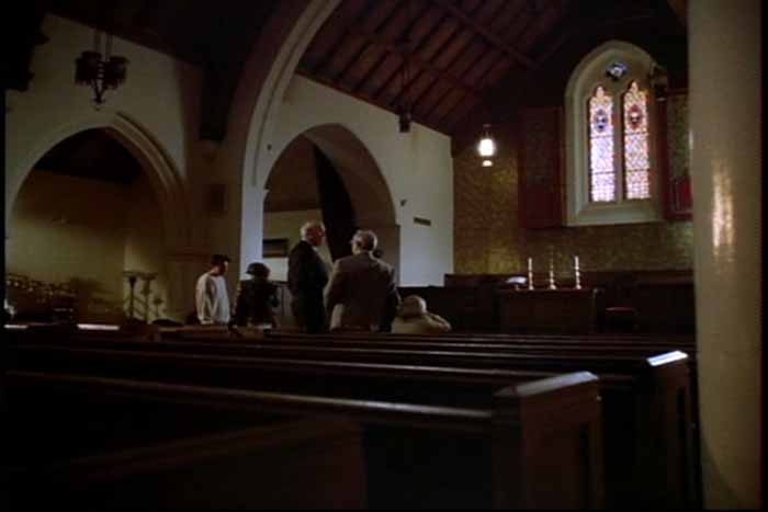 Inside of the Wylie Chapel, where Lois Lane and Clark Kent are scheduled to be married