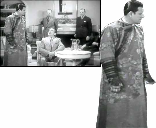 The robe that Mandrake the Magician wears while conducting an interrogation appears to be a ceremonial robe from Tibetan Buddhism
