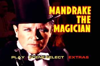 Menu screen VCI Home Video's DVD release of the 1939 'Mandrake the Magician' serial film