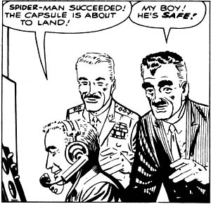 J. Jonah Jameson shows genuine love and concern for his astronaut son