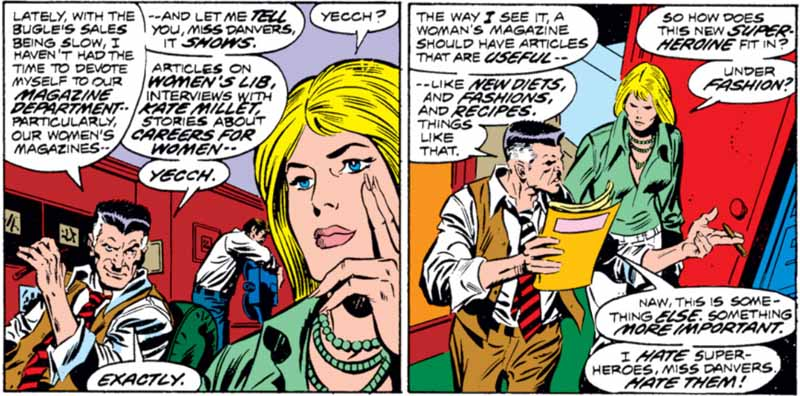 J. Jonah Jameson's disinterest in Feminism is made clear