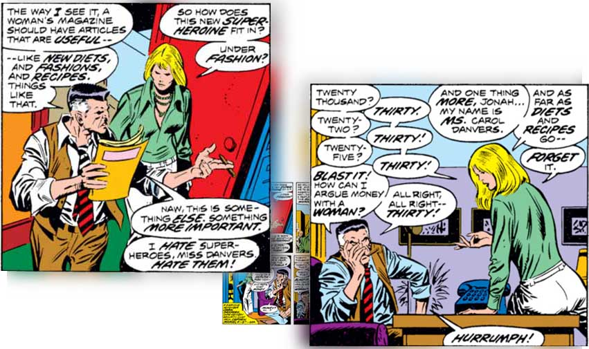 Carol Danvers makes her strong Feminist sensibilities known