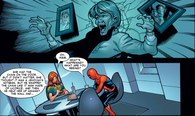 Aunt May thought Mac Gargan (the Scorpion) was a Jehovah's Witness