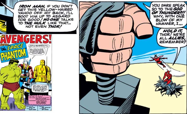 Thor explicitly refers to himself as the God of Thunder in response to the Hulk's impious banter