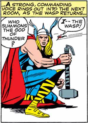 Thor once again refers to himself as the God of Thunder