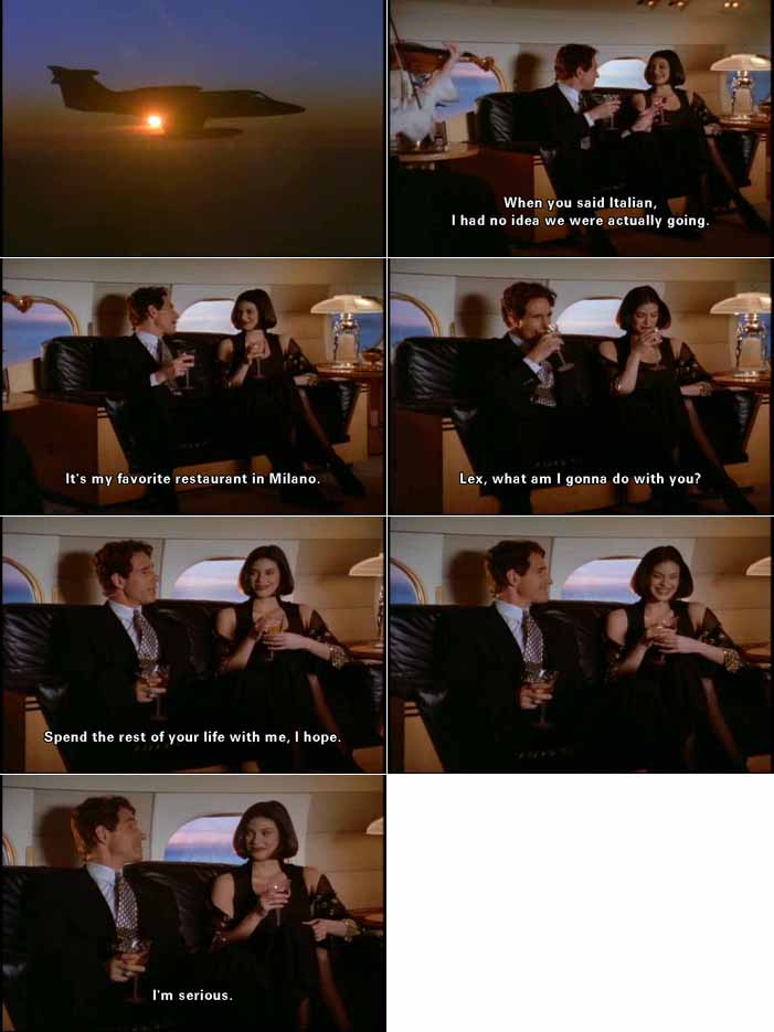Lex Luthor woos Lois Lane on his private jet