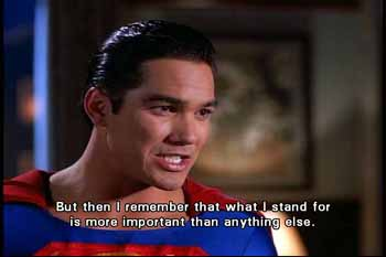 Superman: what I stand for is more important than anything else