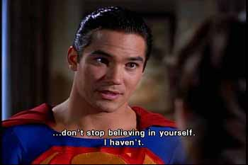 Superman tells Lois Lane: don't stop believing in yourself