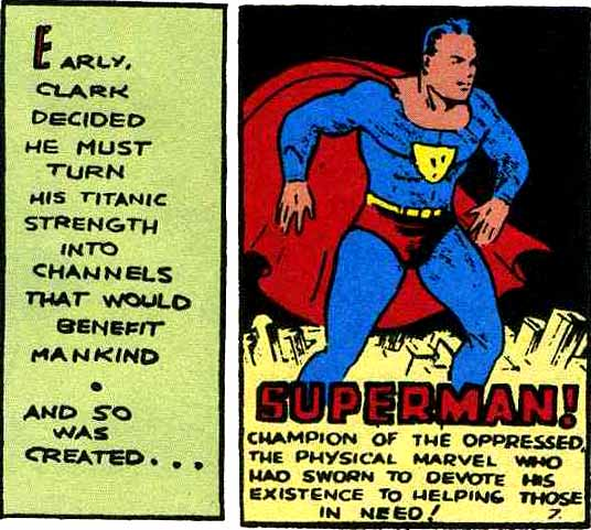 Champion of the oppressed: Early, Clark decided he must turn his titanic strength into channels that would benefit mankind
